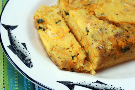 ... (Recipe: Polenta, squash and cheese loaf) {vegetarian, gluten-free
