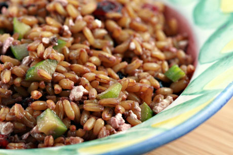 the perfect pantry kamut recipe warm salad of kamut cranberries