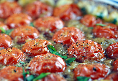 Baked cherry tomatoes recipe