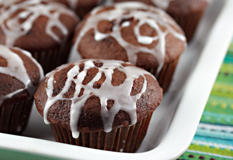 Chocolate double ginger cupcakes