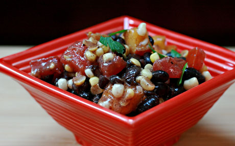 Black-bean-and-tomato-salad