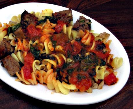 Gravy and pasta