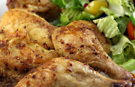 Spiked Cornish game hen