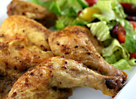 Cornish game hen, a perfect meal for one or two.