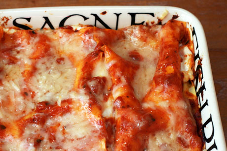 Four-cheese lasagne