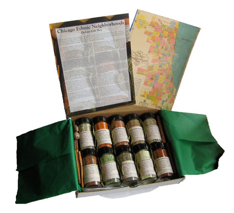 Ethnic Chicago Neighborhoods deluxe spice box