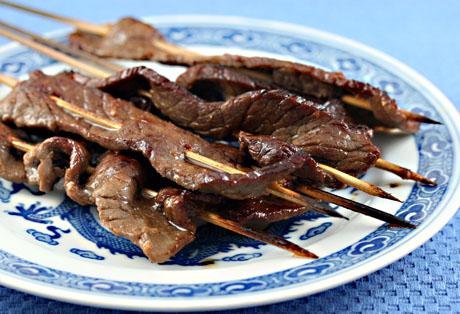 Beef teriyaki skewers