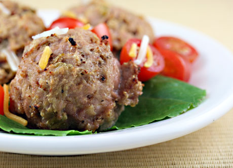 Turkey green chile meatballs
