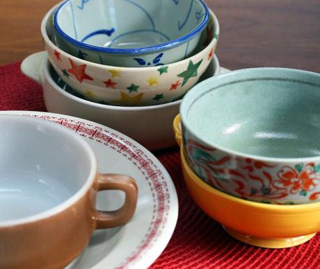 Seven soup bowls