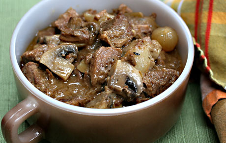 Beef ale and onion stew