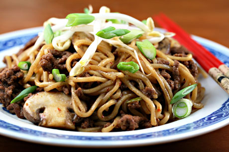 "... Pantry®: Ground beef (Recipe: Chinese ""spaghetti and meat sauce"