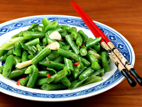 Spicy green beans!