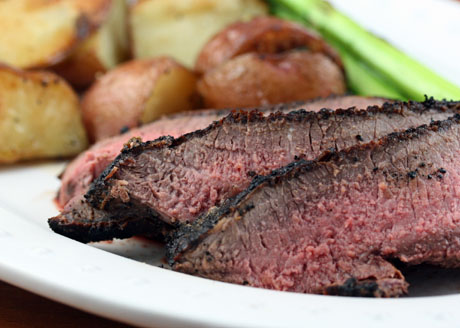 Grilled lamb, souvlaki style.