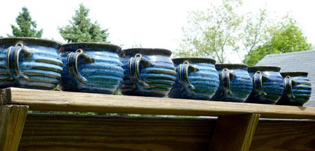 Bob's seven blue chowder mugs