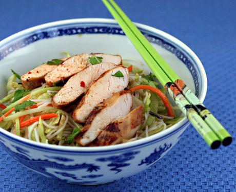 Bun gao rice noodle salad with shrimp