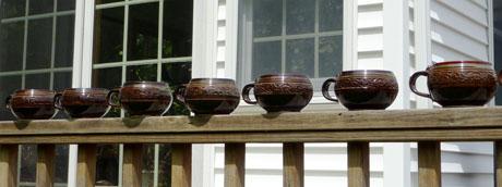 Bob's seven brown chowder mugs