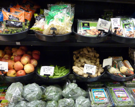 Organics and Asian ingredients.