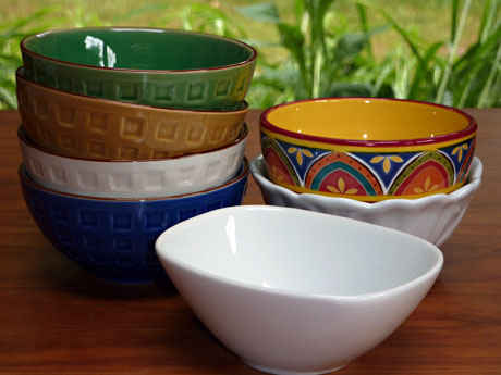 Seven soup bowls from Pier 1.