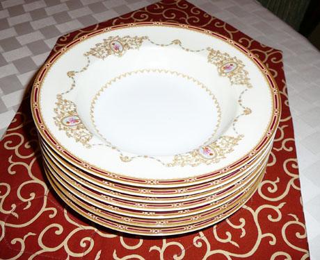 Seven Noritake bowls.