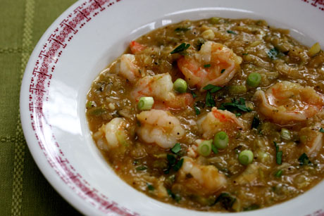 Shrimp etouffee close up