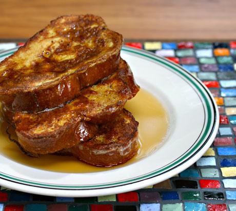 Cinnamon and vanilla challah French toast