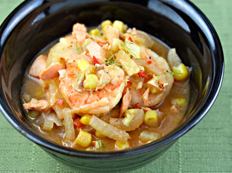 Recipe For Corn And Seafood Cioppino Soup Chick