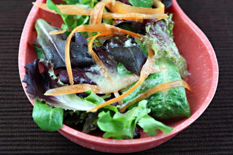 Maple-ginger-miso salad dressing
