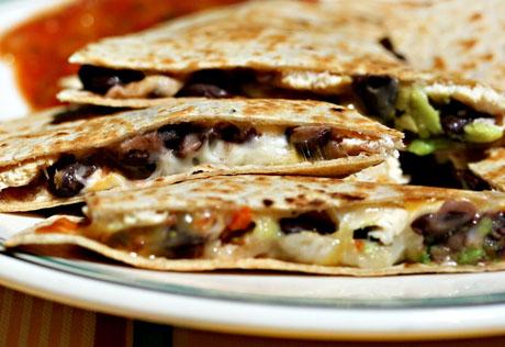 Salsa (Recipe: chicken, black bean, avocado and cheese quesadillas ...