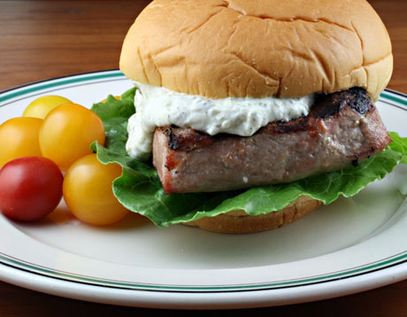 Grilled tuna sandwich with tartar sauce