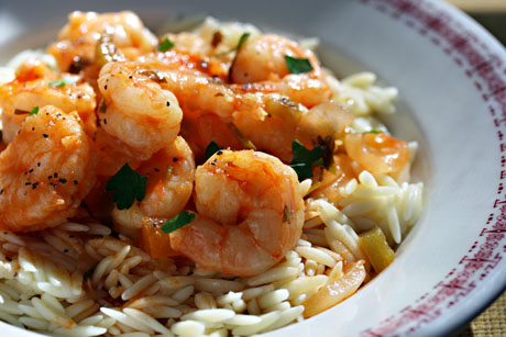 Cuban shrimp in savory sauce