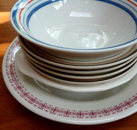 Seven thrift shop bowls.