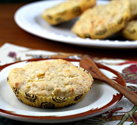 Peach vanilla muffins