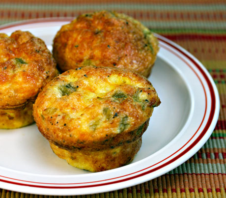 Green chile, cheese and egg breakfast or lunch muffins