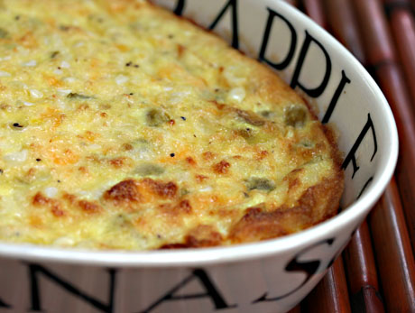 Corn, green chile, egg and cheese casserole