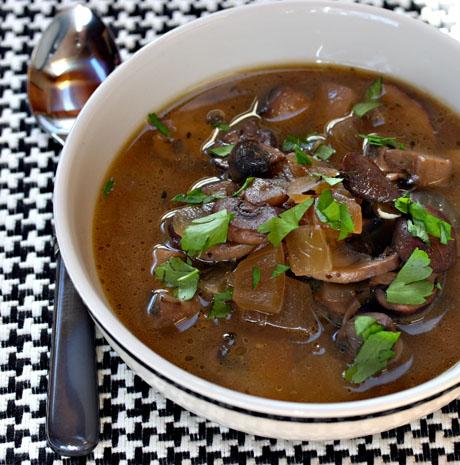 Mushroom Stroganoff soup
