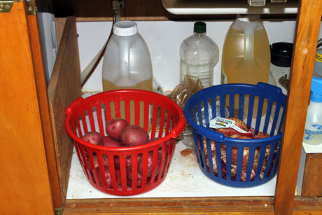 I Store My Potatoes, Onions, And Oils Under The Sink. They Tend To Like  Dark Spaces.