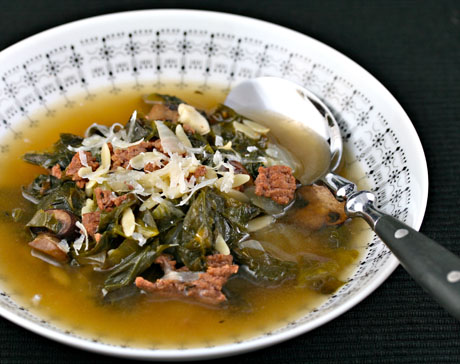 Beef and escarole soup with orzo