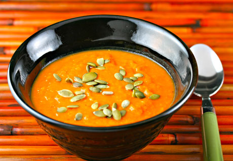 Recipe for vegan carrot ginger soup Soup Chick®