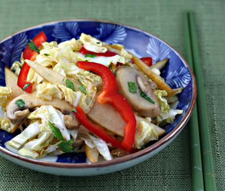 Gingered Napa cabbage salad