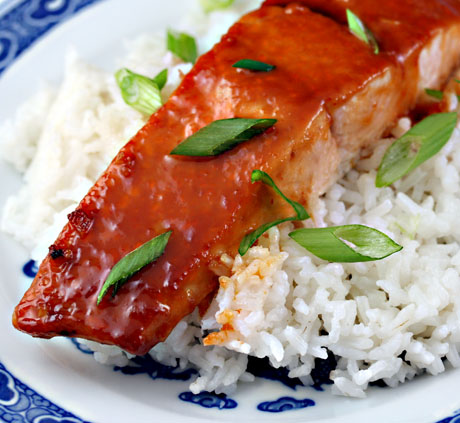 Recipe for miso-Sriracha glazed salmon - The Perfect Pantry®