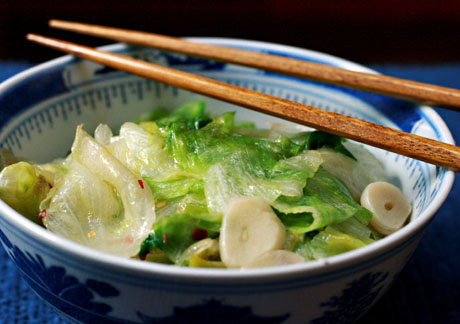 Stir fried garlic lettuce