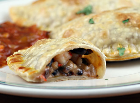 Shrimp and black bean empanadas