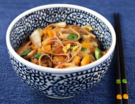 Cabbage and pepper soba