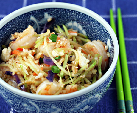 Sesame shrimp fried rice