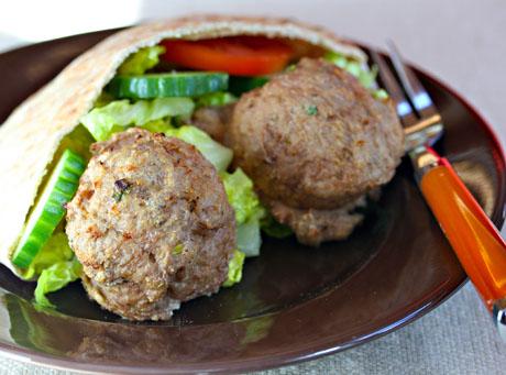 North African harissa turkey meatballs