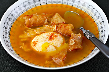 Sopa de ajo (Spanish garlic soup)