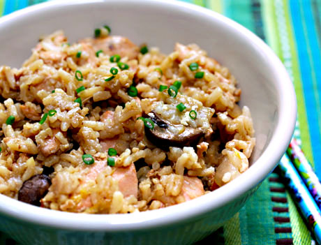 Salmon-fried-rice-detail