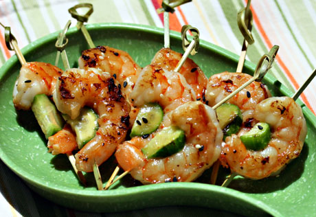 Grilled-sesame-lime-shrimp-and-cucumber