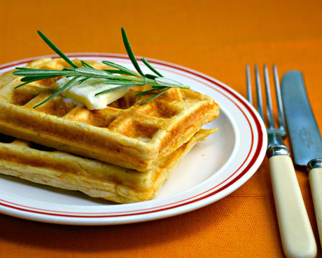 Rosemary-parmesan-sweet-potato-waffles