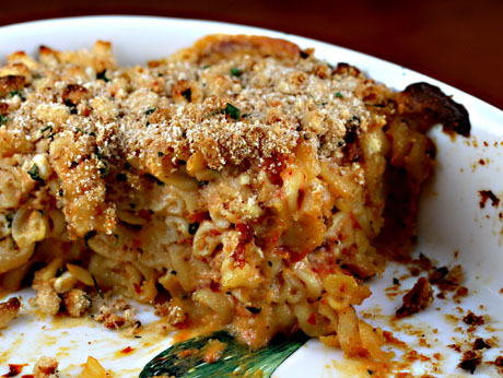 Slow-roasted tomato mac and cheese